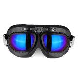 Motosiklet Gözlükler Gözlükler Vintage Classic Gözlükler Retro Pilot Cruiser Steampunk UV Koruyucu