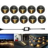 10pcs LED Deck Step Stair Light Garden Outdoor Landscape Yard  Pathway  Night Lamp Kit