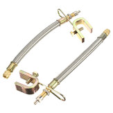 2pcs 180 milímetros de 7 polegadas adaptador de extensão válvula do pneu pneu aço inoxidável 304