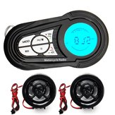 Waterproof Motorcycle Audio Radio Sistema anti-roubo Stereo MP3 USB Speaker com função Bluetooth