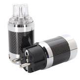 Vanguard Carbon Fiber Rhodium Plated IEC Three-pole DC Power Plug
