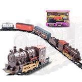 Classic Электрический курьерский сборный трек со звуковым паровым поездом для детей