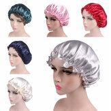 Saten Dantel Uyku Şapka Gece Uyku Kap Saç Bakım Saten Kaput Kadın Için Nightcap Caps