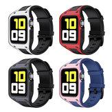 Bakeey 2 em 1 Sport Casual Protetor à Prova de Choque Caso com TPU Watch Banda Substituição da Correia para Apple Watch Série 42/44 mm