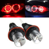 Coppia Red Angel Eyes LED Luci Ring Marker Xenon HID per BMW E39 E60 E53 E65