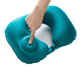 IPRee® Portable Push Type Automatic Inflatable U-Shaped Pillow Leher Istirahat Air Cushion Outdoor Travel