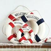 Middelhavsstil Velkommen ombord Dekorativt liv Buoy Home Decor