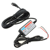 DC 12V-23V to 5V Mini Micro USB Port Car Hard Wire Cable Car Charger Camera Phone GPS Pad