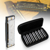 NAOMI  7PCS Blues Harmonica 10 Holes C Key Blues Band Harmonica Set With Case