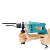 32Pcs Set 1980W 3800RPM Electric Impact Drill Screwdriver Household Electric Flat Drill Grinding