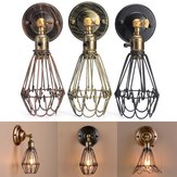 E27 Loft Metal Retro Vintage Rustic Sconce Wall Light Edison Lamp Bulb Fixture