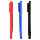 طقم أقلام ماركر برأس مزدوجة خاصة غير قابلة للمسح CD / DVD تلميح / فرشاة سميكة لرسم علامات الألوان المائية للوازم المدرسية