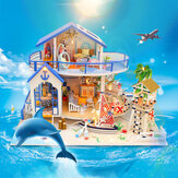 Hoomeda Legend Of The Blue Sea DIY Handmade Assemble Doll House Miniature Model with Lights Music for Gift Collection Home Decoration