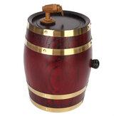 Weikeduo Vtc-808 Barile di alcol in legno 1.5L / 3L / 5L Contenitore per birra rum Phnom Penh Decorazione-Quercia rossa