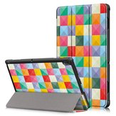 Tri-Fold Printing Tablet Case Cover voor Lenovo Tab E10 Tablet - Cubicity