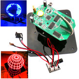 Geekcreit® DIY Spherical Rotating LED Kit POV Soldering Training Kit