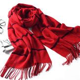 LYZA 200CM冬Soft女性のための暖かいロングスカーフタオルエレガントなファッション大きなグリッドショールスカーフ