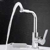 KCASA Cozinha Banheiro Torneiras para lavatório Torneiras misturadas a frio quente Torneira de latão giratório de 720 graus