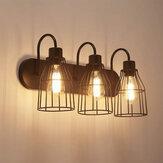3-Lamp Endüstriyel Ahır Duvara Montaj Lambası Ampul Olmadan Retro Metal Aplik Işık Fikstürü