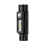 ROVYVON Angel Eyes E700S 4*XP-G3 2800LM Head Light With 3*XP-G3 800LM Side Light Multipurpose Powerful Compact EDC Flashlight Type-c USB Rechargeable LED Mini Torch