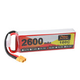 ZOP Power 14.8V 2600mAh 100C 4S Lipo Batteria XT60 Plug per RC Racing Drone