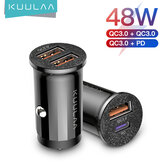 KUULAA 48W Mini USB QC3.0 PD 3.0 Car Charger Quick Charging for iPhone 12 Pro Max for Samsung Galaxy Note S20 ultra Huawei Mate40 OnePlus 8 Pro
