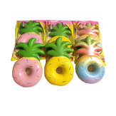 Vlampo Squishy Jumbo Ananas Donut Licenseret Slow Rising Original Emballage Frugt Samling Gave Decor Toy