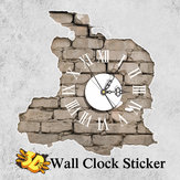 PAG STICKER 3D Wall Clock Decals Breken Cracking Wall Sticker Home Wall Decor Gift