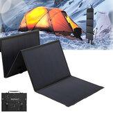 40W panele słoneczne 2 USB + DC wodoodporna składana słoneczna monokrystaliczna płyta silikonowa Power Bank torba na ładowarkę słoneczną Camping Travel
