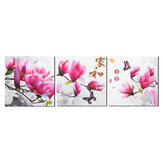 3 Panel Framed Flower Canvas Wall Art Home Decor Modern Painting Hanging Picture Home Office Gifts Supplies