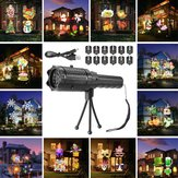 12 Pattern Outside LED Projector Light Atmostphere Light Landscape Laser Lamp Halloween Kid Gift