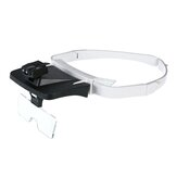 LED Headband Magnifier Glasses Interchangeable 5 Replaceable Lenses 1.0X/1.5X/2.0X/2.5X/3.5X Magnifier Headlight Dental Loupes