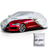ELUTO Car Cover Outdoor Sedan Cover Waterproof Windproof All Weather Scratch Resistant Outdoor UV Protection with Adjustable Buckle Straps