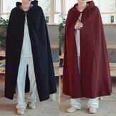 Vintage Kapüşonlu Pelerin Gevşek Uzun Pelerin Mont Cosplay Kostüm