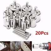 20pcs 4-40mm Diamond Hole Saw Broca Bit Set for Tiles Cerâmico Marble Glass