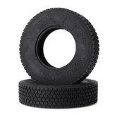 2 piezas 1/14 neumático de tractor para Tamiya RC Coche piezas de contenedor de cabeza de barro