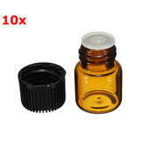 10 stk små Amber Glass Essential Bottle til Parfume 1ml