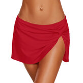 Ladies Ruffled Skirt Briefs Swimming Trunks