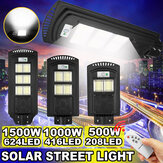 500-2500W 208-624 LED Poste solar PIR Movimento Sensor Lâmpada de parede com remoto