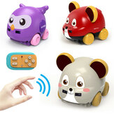 3301 1/24 Manual Control Electric Cartoon Animals RC Car Gesture Sensor Vehicles w/ Light Music RTR Child Gift Toys