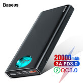 Baseus 20000 mAh Power Bank 3 uitgangen en 3 ingangen 18 W USB-C PD3.0 Ondersteuning QC3.0 FCP SCP LED Digitaal display Externe powerbank
