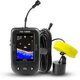 ERCHANG XF02-C 2,8 polegadas LCD Sonar sem fio Fish Finder 100M Profundidade Distância Lake Fish Detect Sonar sem fio profissional Sensor