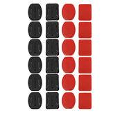 24 pcs Capacete Acessórios Flat Curved Adhesive Pad Mount para Gopro Hero 3 3+ 4 5
