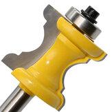 Broca de roteador de moldagem de face de coluna de talão boleado com haste de 8 mm Drillpro para ferramentas de marcenaria