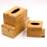 Stockagedepapieràlamaison de voiture de support en bois de couverture de boîte à mouchoirs en bois simple créative