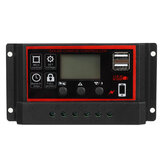 10A / 20A/30A 12V / 24V Painel solar Chager Controlador Photovoltaik Solarmodul LCD Display Dual USB