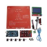 Geekcreit 3D-Drucker Mainboard Satz RAMPS 1.4 + Mega 2560 + DRV8825 + 12864LCD + PCB-Wärmebett MK2B Satz