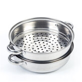 2/3 Tier Steamer Multifunctional Stainless Steel Steaming Soup Hot Pot Cookware
