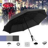 OtomatikŞemsiye1-2KişiTaşınabilirRüzgar Geçirmez Şemsiye Kampçılık Üç Katlanır Güneşlik
