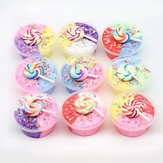 DIY Three Color Slime Lollipop Snowflake Mud Cotton Star Decompression Stress Reliever Toy 60ml